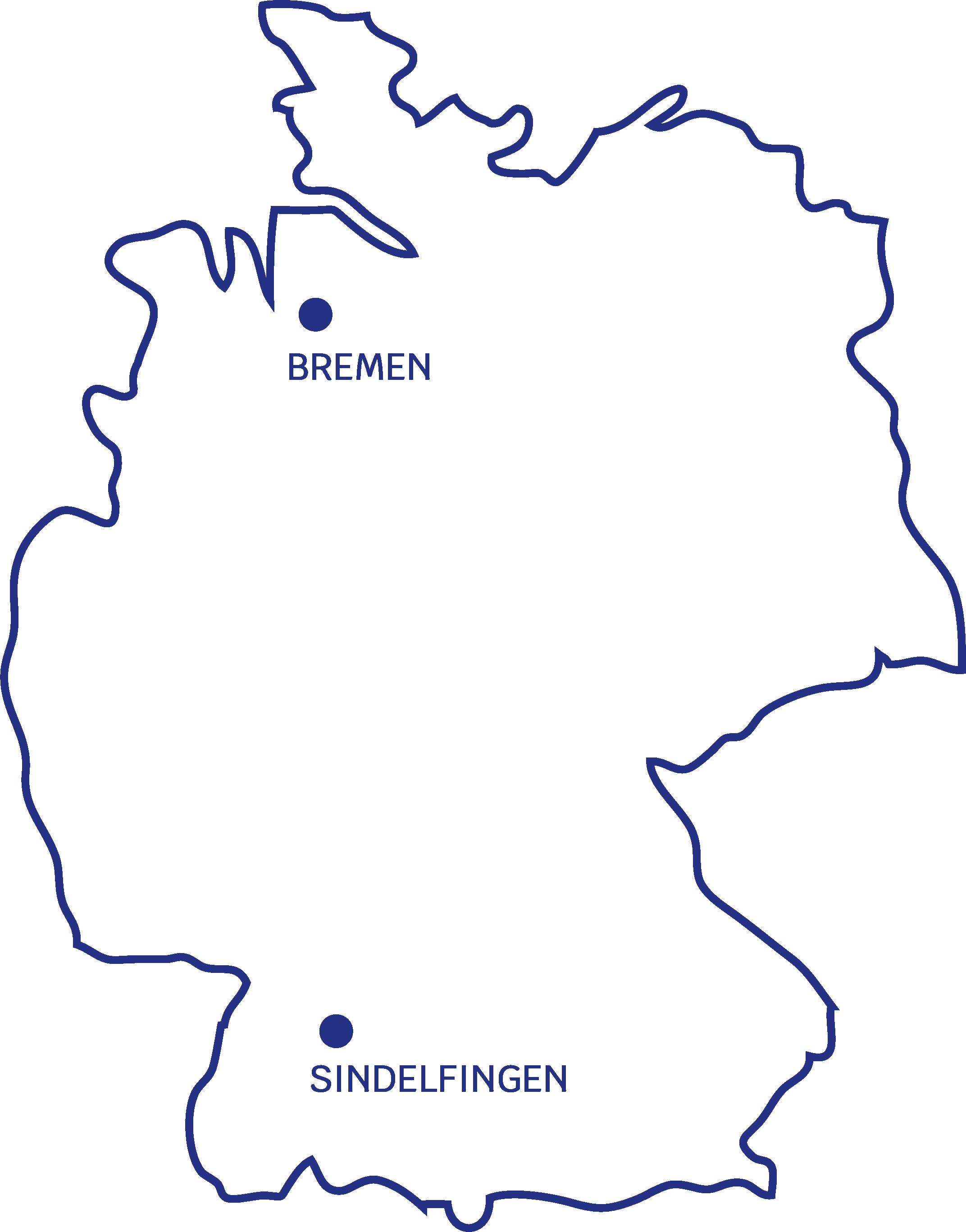 Eine Karte mit den Standorten von Sharpening Edge, ein Unternehmen für Umsetzungsorientierte Management Beratung
